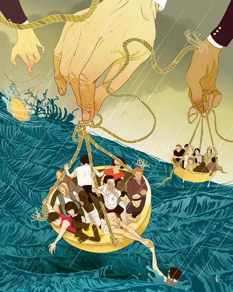 Рисунки американского иллюстратора Марко Шина.. Изображение № 6.