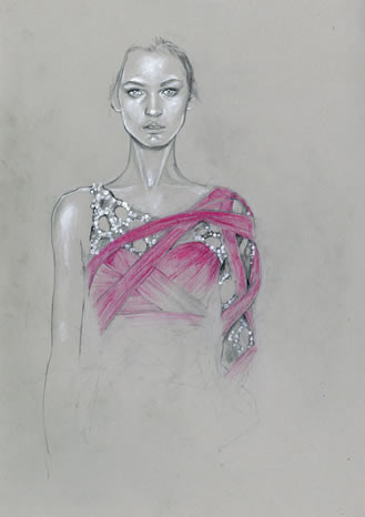 Fashion illustrations by Cedric Rivrian. Изображение № 2.