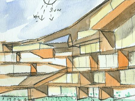 Архитектурные акварели стивена холла. Изображение № 4.