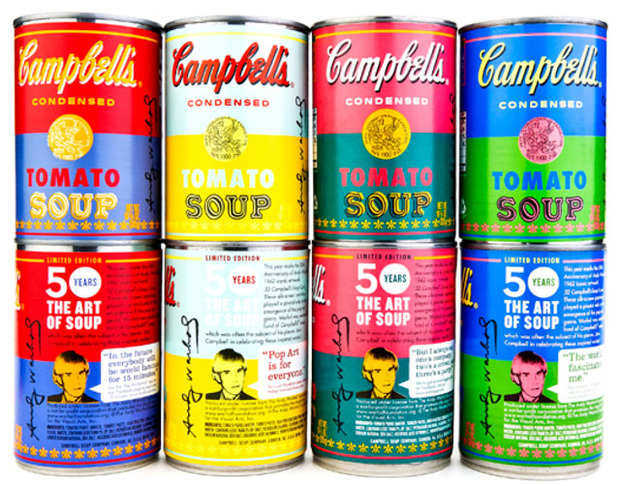 Campbell's выпустил лимитированную серию супов в честь Энди Уорхола. Изображение № 1.