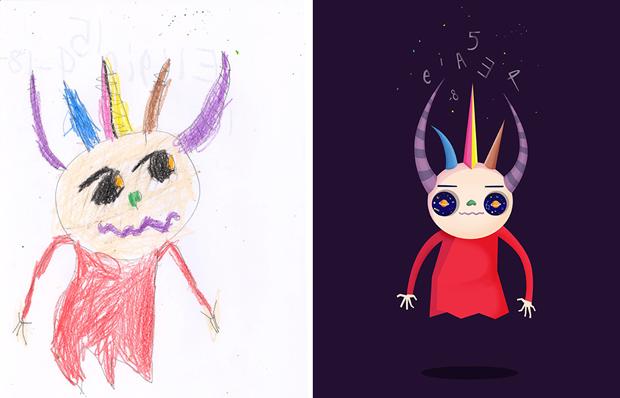 Художники создали монстров наоснове детских рисунков. Изображение № 29.
