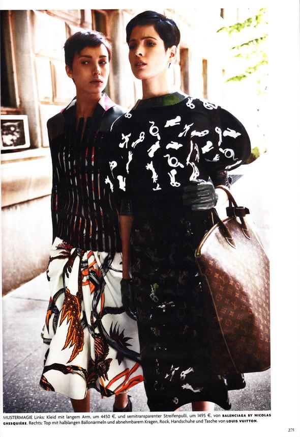 Съёмка: Хана Бен Абдесслем и Валерия Келава для Vogue. Изображение № 14.