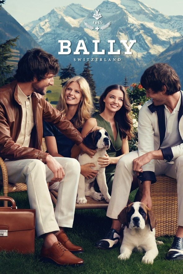 Превью кампании: Миранда Керр и Юлия Штегнер для Bally SS 2012. Изображение № 4.