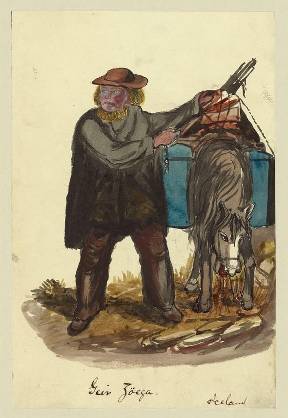 Исландия в середине XIX века: путевые рисунки американского дипломата. Изображение № 13.