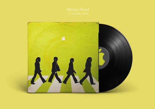 Обложки альбомов The Beatles перерисовали в стиле Apple. Изображение № 5.