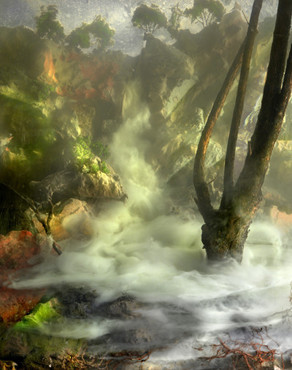 Kim Keever. Waterfall 104f, 2010