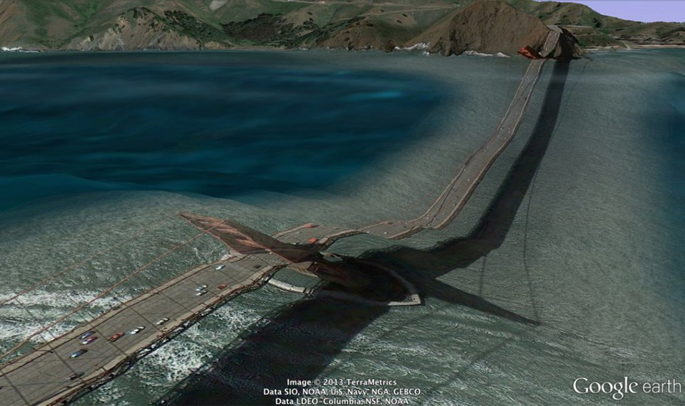 32 фотографии из Google Earth, противоречащие здравому смыслу. Изображение № 28.