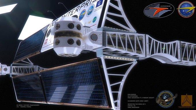 Опубликован концепт корабля NASA с варп-двигателем . Изображение № 7.