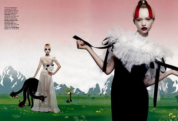 Архивная съёмка: Джемма Уорд для Harper's Bazaar, 2004. Изображение № 2.
