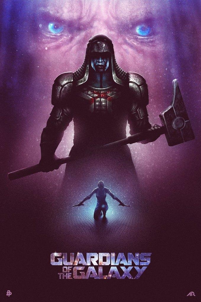 Опубликованы 44 фанатских постера к «Стражам Галактики». Изображение № 25.