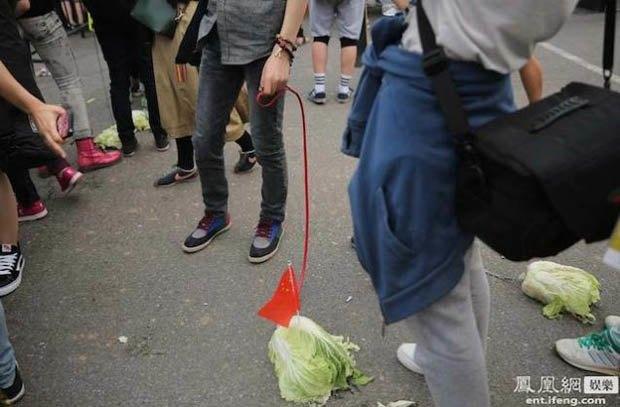 Китайские подростки выгуливают капусту на поводке. Изображение № 2.