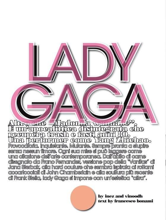 Съёмка: Леди Гага для Vogue. Изображение № 1.