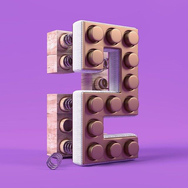 Дизайнер создал абстрактные объекты на основе цифр. Изображение № 3.
