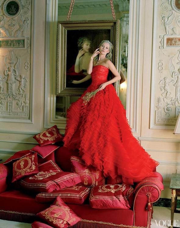 Кейт Мосс в апрельском Vogue US. Изображение № 2.