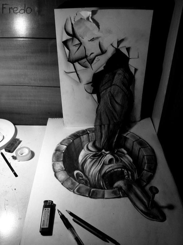 """Изображение 7. Реалистичные 3D рисунки """"в карандаше"""".. Изображение № 7."""
