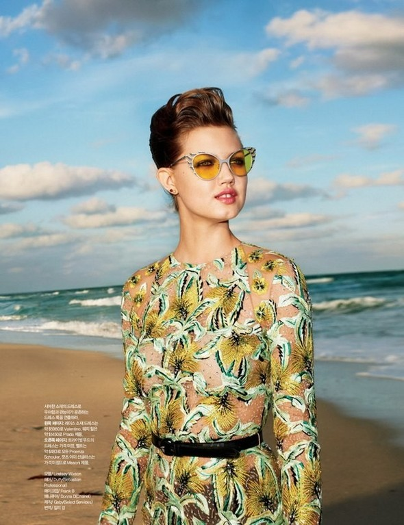 Lindsey Wixson for Harper's Bazaar Korea. Изображение № 1.