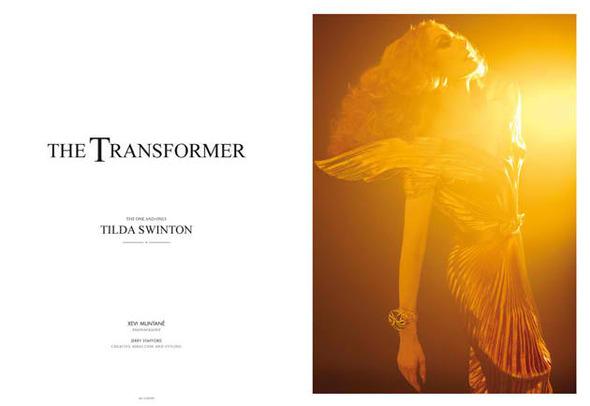 Фэшн-видео с Тильдой Суинтон и еще 10 модных съемок актрисы. Изображение № 6.