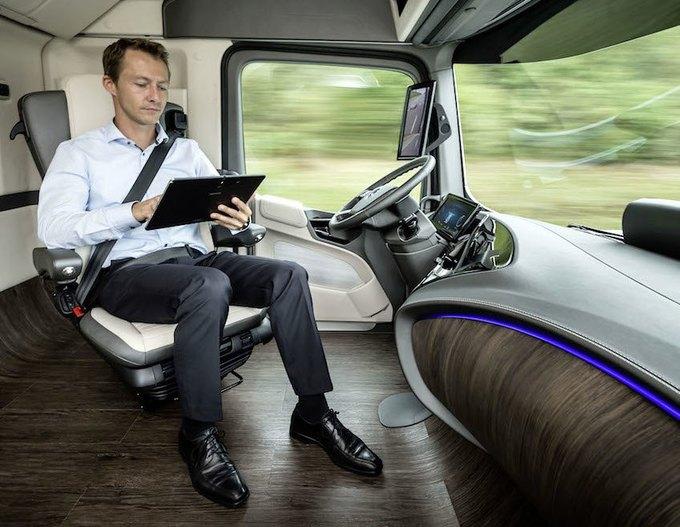Появились новые фотографии автономного грузовика Mercedes-Benz. Изображение № 5.