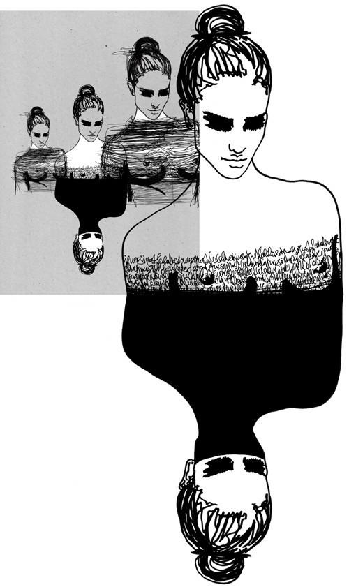 Красота женских линий припомощи двух-трех штрихов. Изображение № 8.