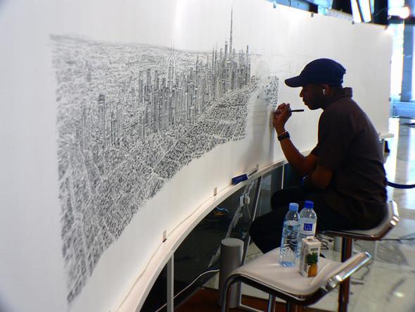 Стивен Вилтшер. Художник рисующий панорамы городов по памяти. Изображение №12.