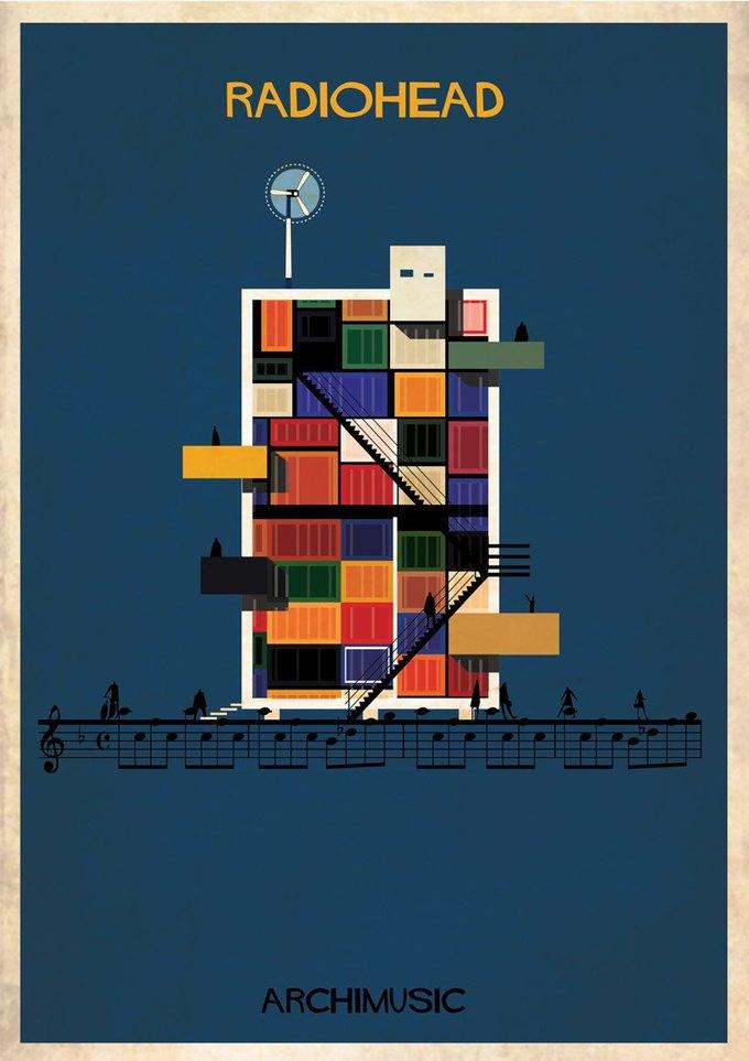 Испанский архитектор превратила песни в здания для новой серии плакатов . Изображение № 7.