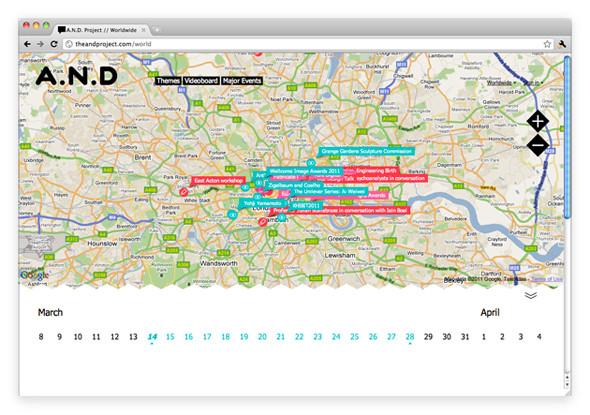 Изображение 2. A.N.D — новый интерактивный гид по культурным событиям.. Изображение № 3.