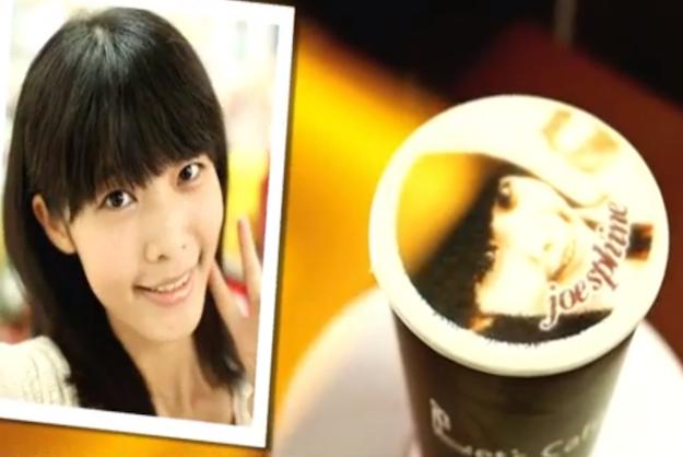 В тайваньском кафе на пенке латте печатают портреты клиентов. Изображение № 1.