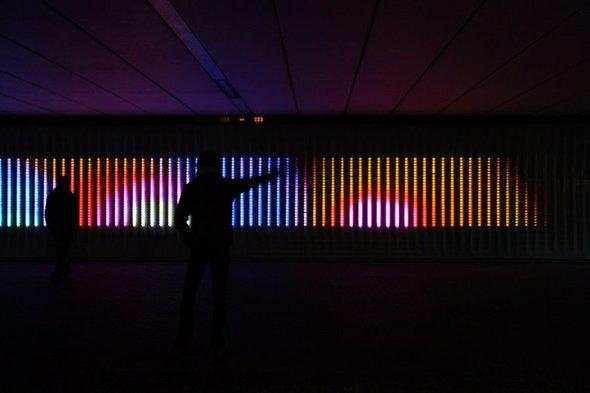 Motion Wall, интерактивная LEDинсталляция. Изображение № 1.
