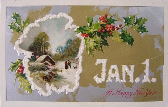 Новогодние открытки 1912 года. Изображение № 1.
