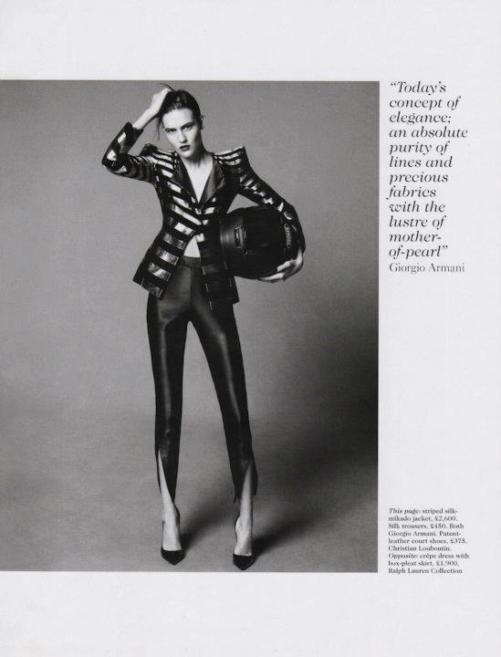 Съёмка: Дэниел Джексон для британского Vogue. Изображение № 3.