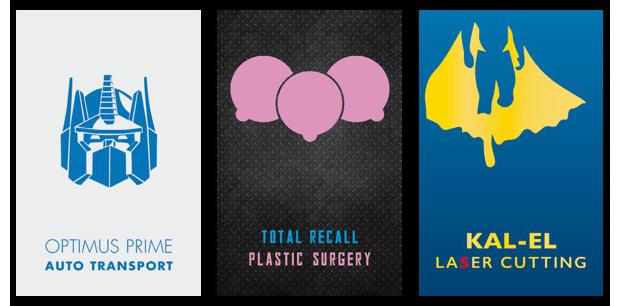 Дизайнеры создали визитные карточки героев Голливуда. Изображение № 6.