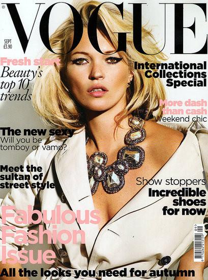 Кейт Мосс насентябрьской обложке русского Vogue. Изображение № 9.