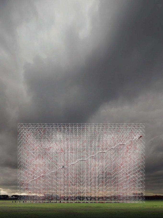 Архитектор представил проект памятника идеям Эль Лисицкого. Изображение № 2.