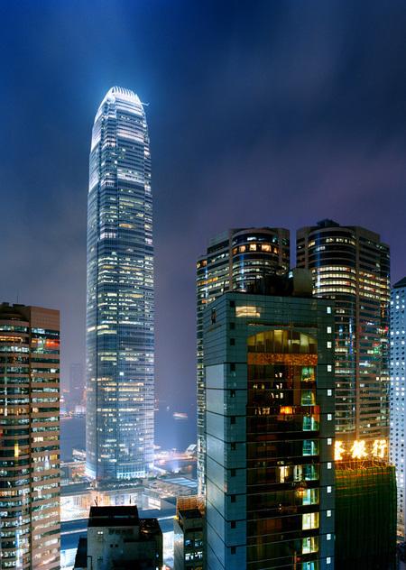 Мегаполисы ночью Гонконг, Дубаи, Нью-Йорк, Шанхай. Изображение № 4.