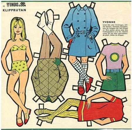 Бумажные куклы 1960-х годов!. Изображение № 2.