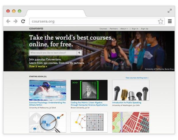Главная страница Coursera. Изображение № 3.