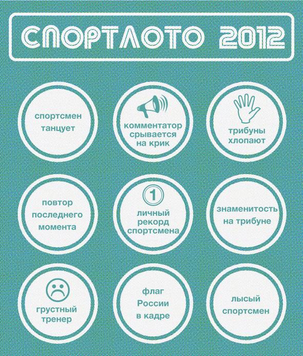 Спортлото-2012: Настольная игра по мотивам олимпийских трансляций . Изображение № 8.