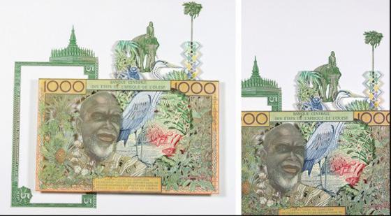 Картины и коллажи из денег Родриго Торреса. Изображение № 5.