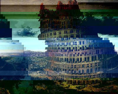 Питер Брейгель-старший, Glitch Browser Вавилонская башня 1563—2008. Изображение № 7.
