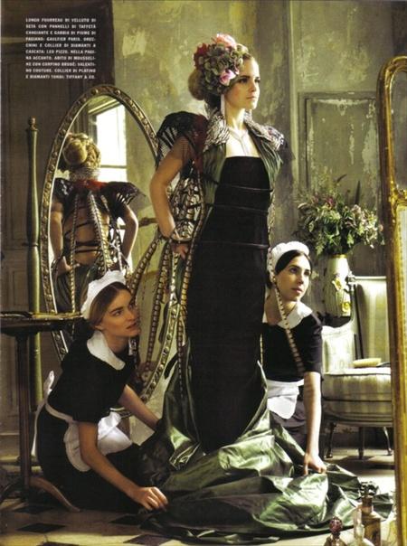 Эмма Уотсон (итальянский Vogue, сентябрь 2008). Изображение № 7.