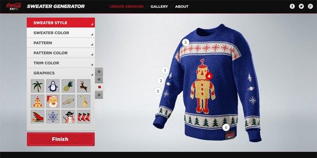 Лайк дня: Coca-Cola запустила онлайн-генератор праздничных свитеров. Изображение № 1.
