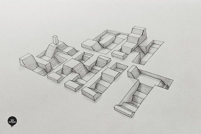 Иллюстратор рисует трёхмерные шрифты . Изображение № 4.