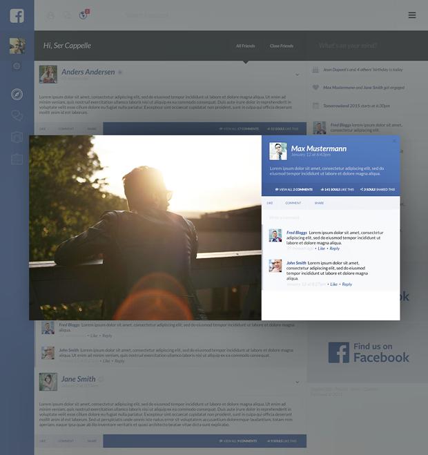 Редизайн дня: полностью новая веб-версия Facebook. Изображение № 10.