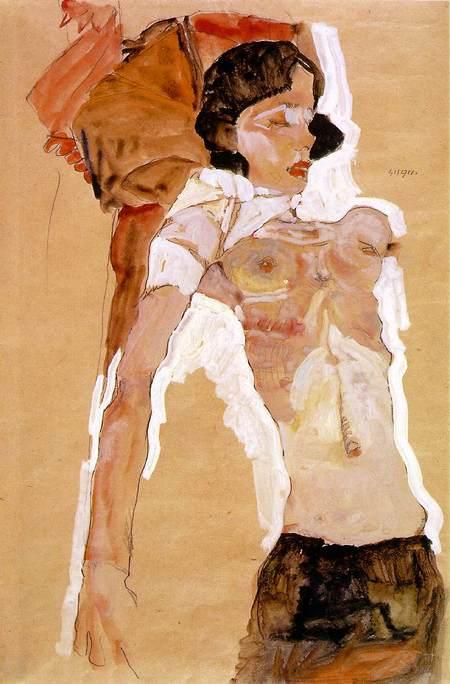 Эгон Шиле. Эротика вискусстве живописи ирисунка. Изображение № 27.
