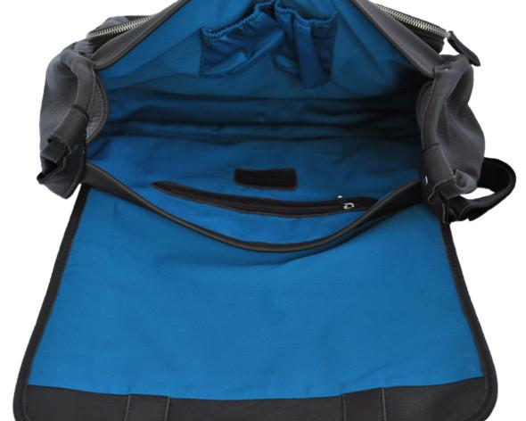 Коричневая кожа, синяя подкладка.. Изображение № 5.