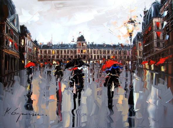 Красные зонтики художника Kal Gajoum. Изображение № 15.
