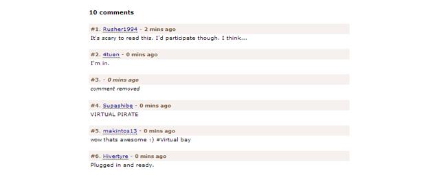 Комментарии пользователей The Pirate Bay. Изображение № 1.