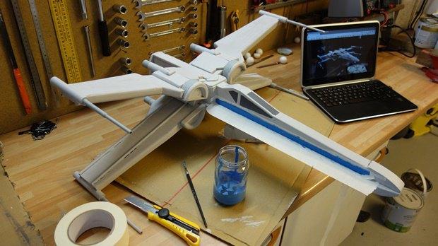 Энтузиаст собрал дрон в виде истребителя X-Wing. Изображение № 19.