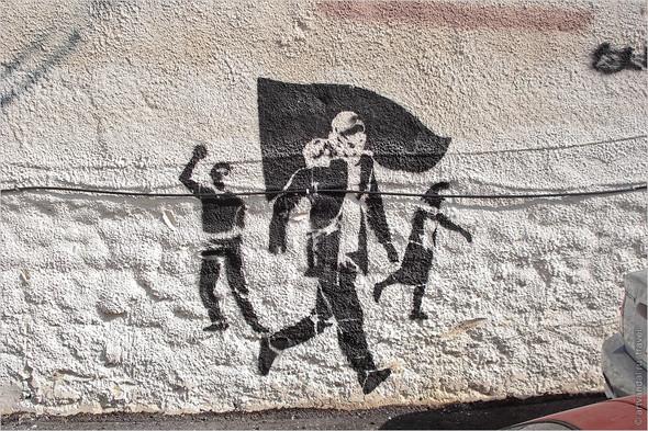 Стрит-арт и граффити Афин, Греция. Часть 2. Изображение № 25.