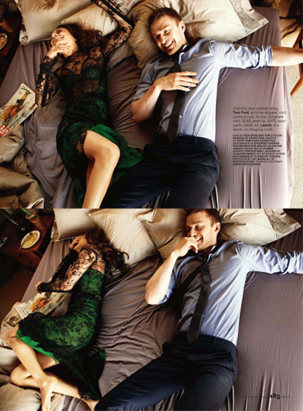 Съёмка: Мила Кунис и Джастин Тимберлейк для Elle. Изображение № 3.
